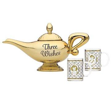 Disney Alladin - set čajové konvice a 2 sklenic (5055453464683)