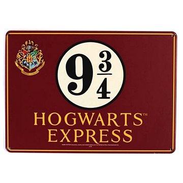 Harry Potter - Platform 9 3/4 - plechová cedule na zeď, vel. A5 (5055453443398)