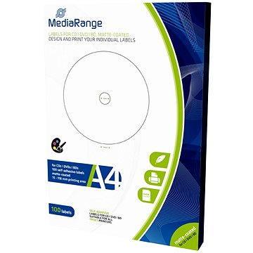 MediaRange CD/DVD/Blu-ray etikety 15mm - 118mm bílé (MRINK130)