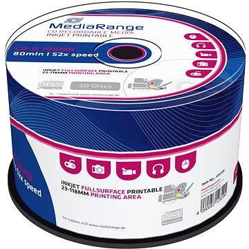 MediaRange CD-R Inkjet Printable 50ks cakebox (MR208)