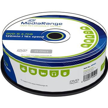 MediaRange DVD-R 25ks cakebox (MR403)