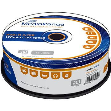 MediaRange DVD+R 25ks cakebox (MR404)