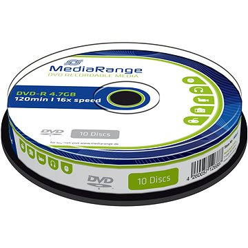 MediaRange DVD-R 4.7GB, 10ks (MR452)