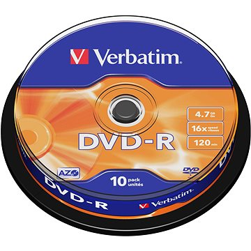 VERBATIM DVD-R AZO 4.7GB, 16x, spindle 10 ks (43523)