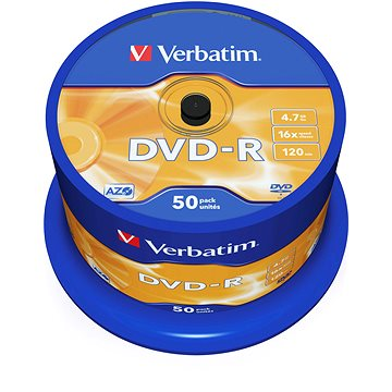 Verbatim DVD-R 16x, 50ks cakebox (43548)