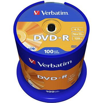 VERBATIM DVD-R AZO 4.7GB, 16x, spindle 100 ks (43549)