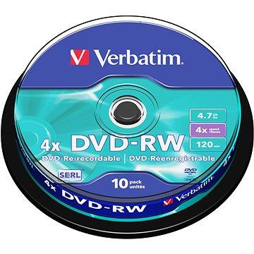 Verbatim DVD-RW 4x, 10ks cakebox (43552)