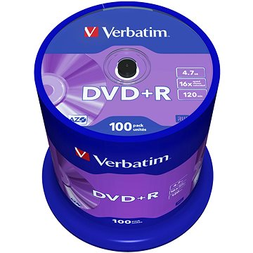 VERBATIM DVD+R AZO 4.7GB, 16x, spindle 100 ks (43551)