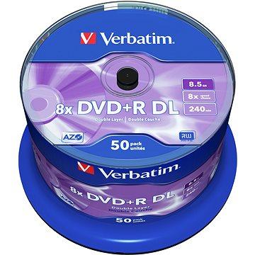 VERBATIM DVD+R DL AZO 8.5GB, 8x, spindle 50 ks (43758)