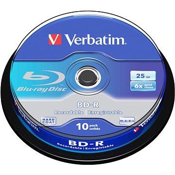 VERBATIM BD-R SL 25GB, 6x, spindle 10 ks (43742)