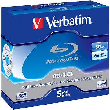 Verbatim BD-R 50GB Dual Layer 6x, 5ks v krabičce (43748)