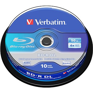 Verbatim BD-R 50GB Dual Layer 6x, 10ks cakebox (43746)