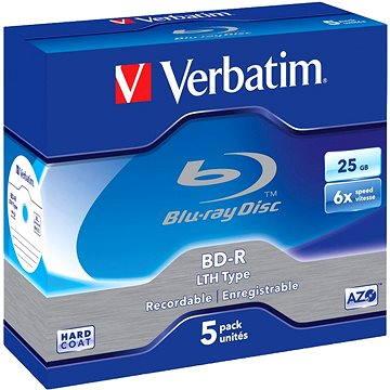 Verbatim BD-R SL LTH 25GB 6x, 5ks (43753P)