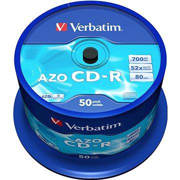 VERBATIM CD-R 80 52x CRYST. spindl 50pck/BAL (43343)