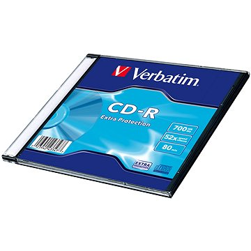 VERBATIM CD-R 80 52x EXTRA slim 200pc/BAL (43347)