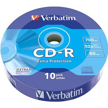 VERBATIM CD-R 80 52x WRAP EXTRA PROTECTION 10pck/BAL (43725)