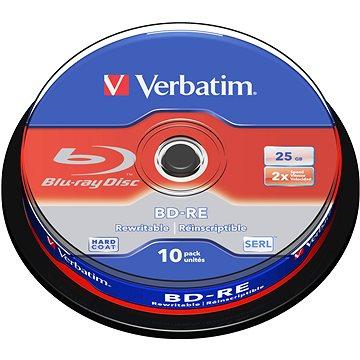 VERBATIM BD-RE SL 25GB, 2x, spindle 10 ks (43694)