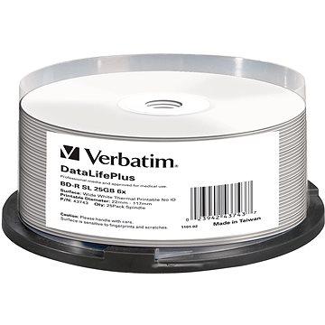 VERBATIM BD-R SL DataLifePlus 25GB, 6x, thermal printable, spindle 25 ks (43743)