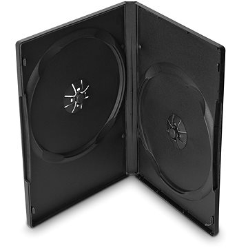 Krabička na 2ks, černá, 14mm,10ks/bal (27115P10)