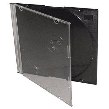 Krabička slim na 1ks - černá, 5.2mm, balení po 25 kusech (COVERIT9)
