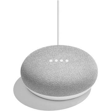 Google Home Mini Chalk + ZDARMA Cestovní adaptér Goobay UK->EU Power Adapter bílý