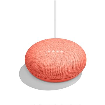 Google Home Mini Coral Exclusive + ZDARMA Cestovní adaptér Goobay UK->EU Power Adapter bílý