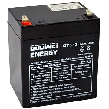 GOOWEI ENERGY OT5-12, 12V, 5Ah (OT5-12)