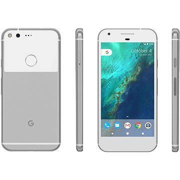 Google Pixel Very Silver 32GB + ZDARMA Album MP3 Zimní playlist 2017 Digitální předplatné Týden - roční Cestovní adaptér Hama - zásuvkový adaptér z Británie do ČR