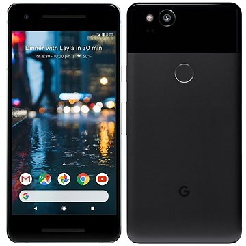 Google Pixel 2 64GB černý + ZDARMA Cestovní adaptér Goobay UK->EU Power Adapter bílý Digitální předplatné Interview - SK - Roční od ALZY