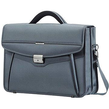 Samsonite Desklite Briefcase 2 Gussets 15.6 Grey (50D08002)