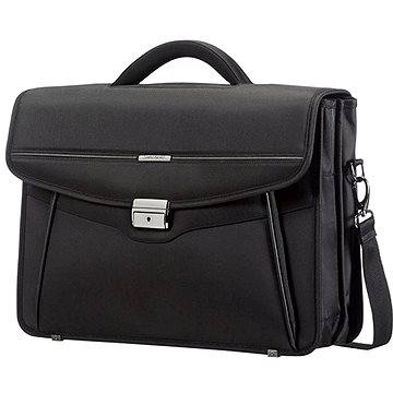 Samsonite Desklite Briefcase 2 Gussets 15.6 Black (50D09002)