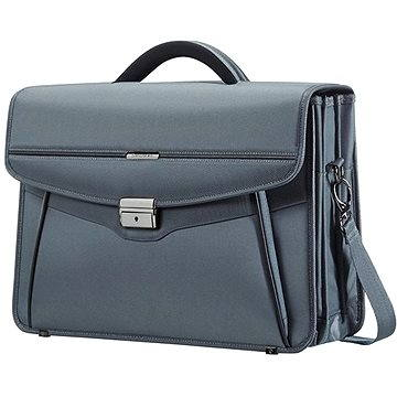 Samsonite Desklite Briefcase 3 Gussets 15.6 Grey (50D08003)