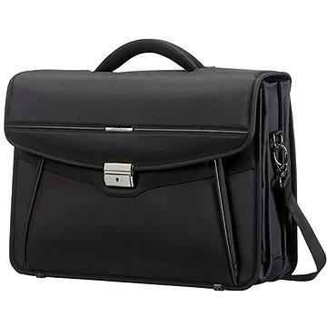 Samsonite Desklite Briefcase 3 Gussets 15.6 Black (50D09003)