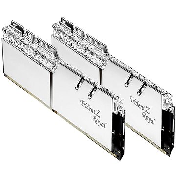 G.SKILL 16GB KIT DDR4 3200MHz CL16 Trident Z Royal RGB silver (F4-3200C16D-16GTRS)