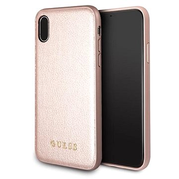 Guess Iridescent pro Apple iPhone X Rose Gold (3700740407837)