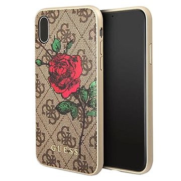 Guess 4G Flower Desire pro Apple ipHone X Brown (3700740406915)