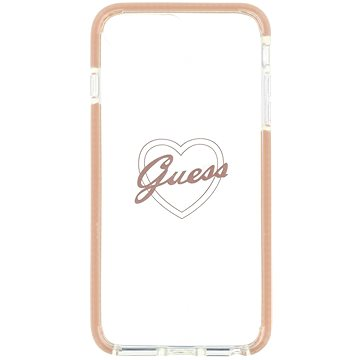 Guess ShockProof Pink Heart pro iPhone 7/8 Plus (3700740417386)