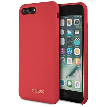 Guess Silicone Logo TPU Case Red pro iPhone 7/8 Plus (3700740432921)
