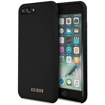 Guess Silicone Logo TPU Case Black pro iPhone 7/8 Plus (3700740433188)