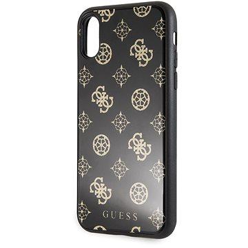 Guess Layer Glitter Peony pro iPhone X/XS Black (3700740448007)