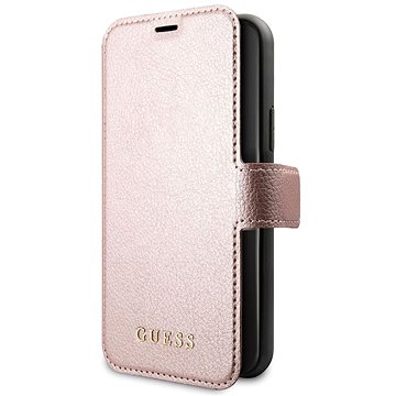 Guess Iridescent Book pro iPhone 11 Pro Max Black/Rose (EU Blister) (3700740461686)