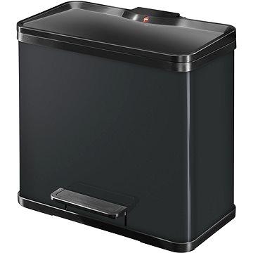Odpadkový koš Hailo nášlapný koš duo se soft close zavíráním 17L+9L černý lak (0630-260)