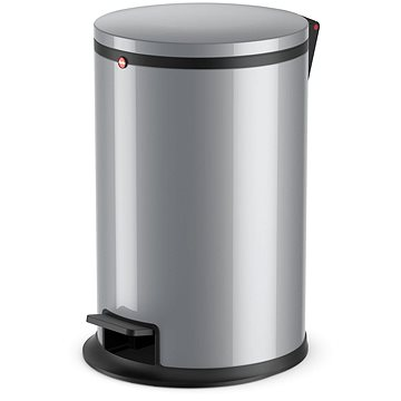 Odpadkový koš Hailo nášlapný koš 12L stříbrný lak (0517-020)
