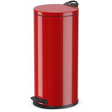 Odpadkový koš Hailo nášlapný koš 19L červený lak (0520-839)