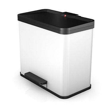 Odpadkový koš Hailo nášlapný koš duo se soft close zavíráním 17L+9L bílý lak (0630-230)