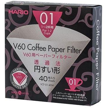 Hario papírové filtry V60 – 01 40ks (HRVCF-01-40W)