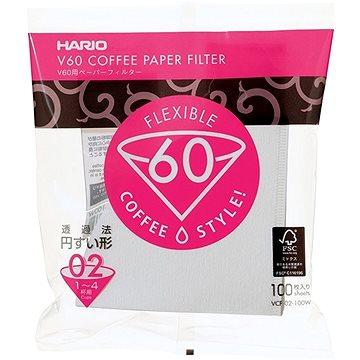 Hario papírové filtry V60 – 02 100ks (HRVCF-02-100W)