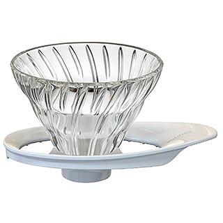 Hario skleněný dripper na kávu V60-01 (HRVDG-01W )