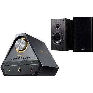 Creative SOUND BLASTER X7 + E-MU XM7 Bookshelf Speakers (černé)