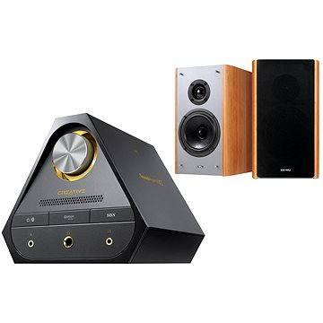 Creative SOUND BLASTER X7 + E-MU XM7 Bookshelf Speakers (hnědé)